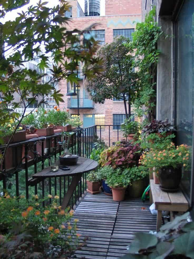 Small Apartment City Balcony Garden