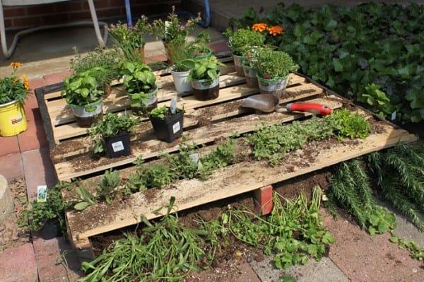 Above Ground Pallet Planter Garden Bed