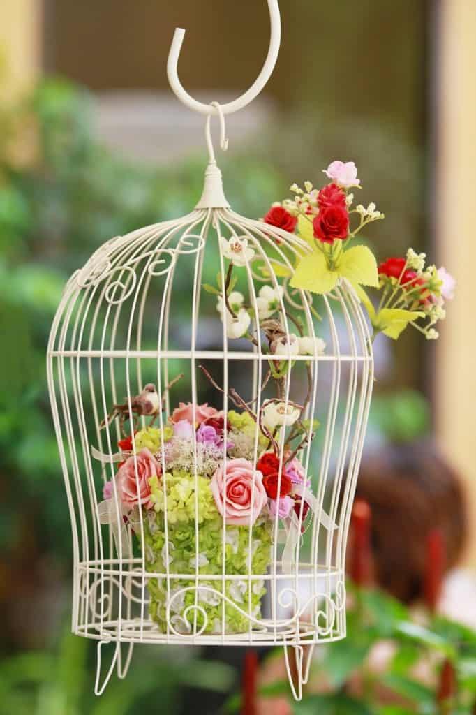 Bird Cage Hanging Planter ideas