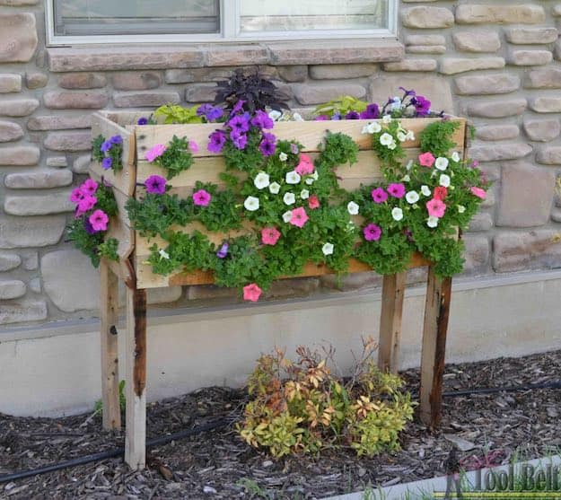 Cascading Flowers Pallet Planter