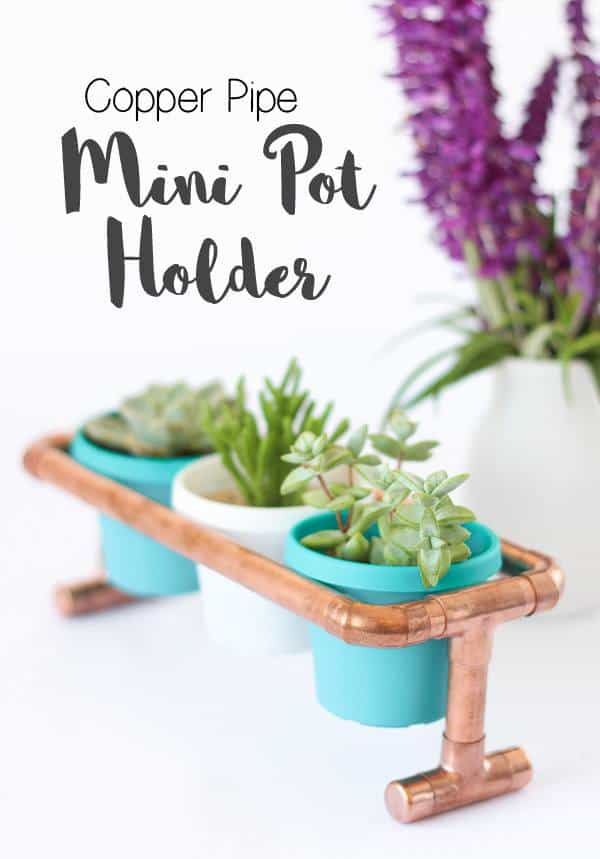 Copper Pipe Pot Plant Holder diy succulent planter