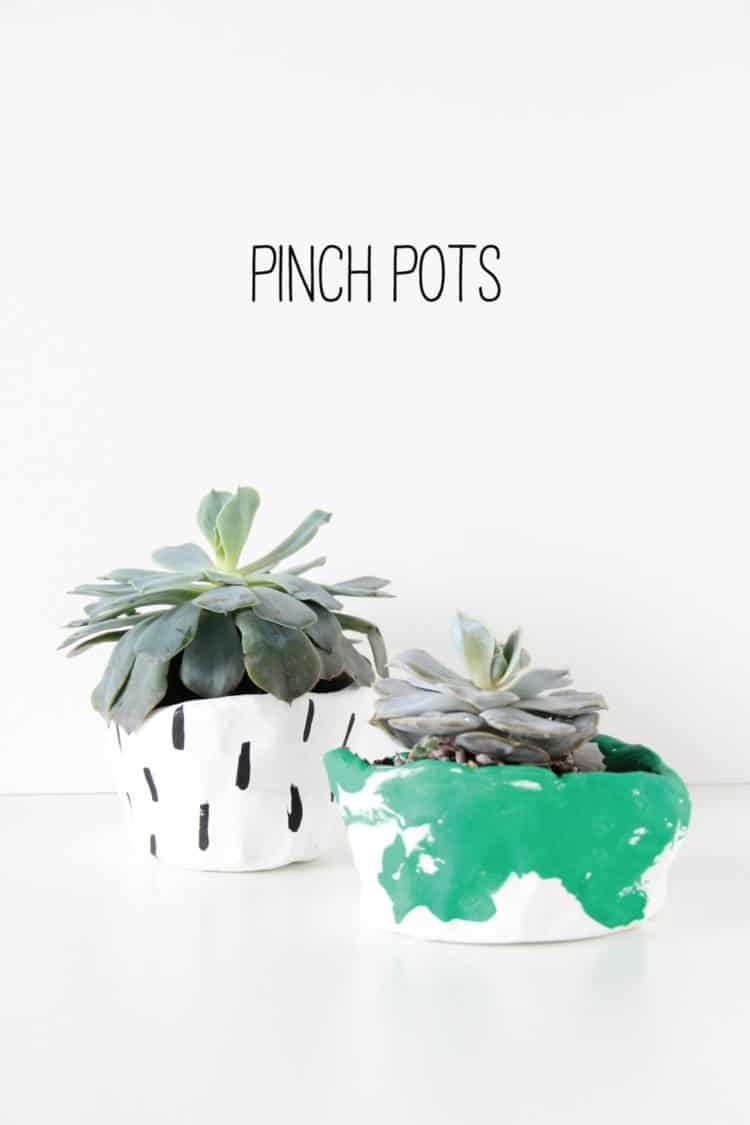 DIY Pinch Pots