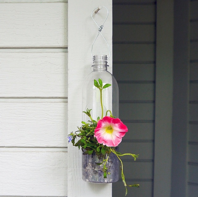 DIY Plastic Bottle Hanging Planter ideas