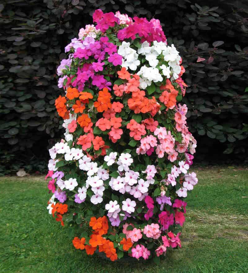 DIY Vertical Flower Garden Tower