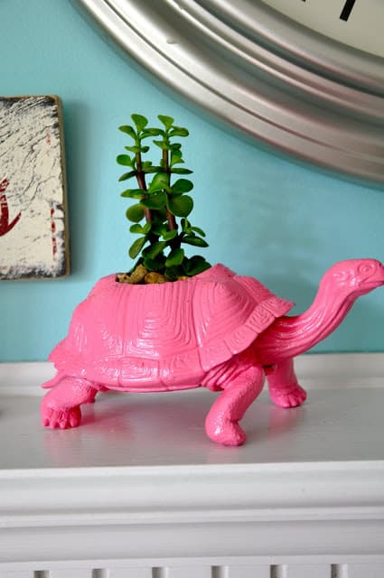 Dino Toy diy succulent Planter