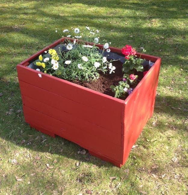 Easy To Build Pallet Planter Box