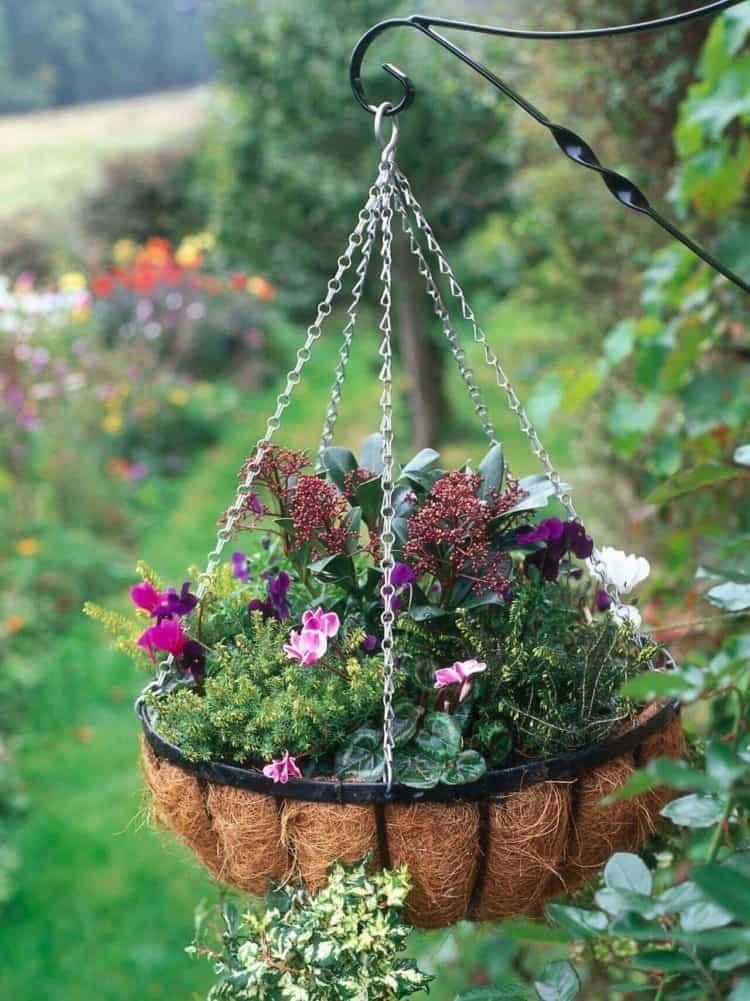 Elegant Seasonal Outdoor Hanging Basket planter