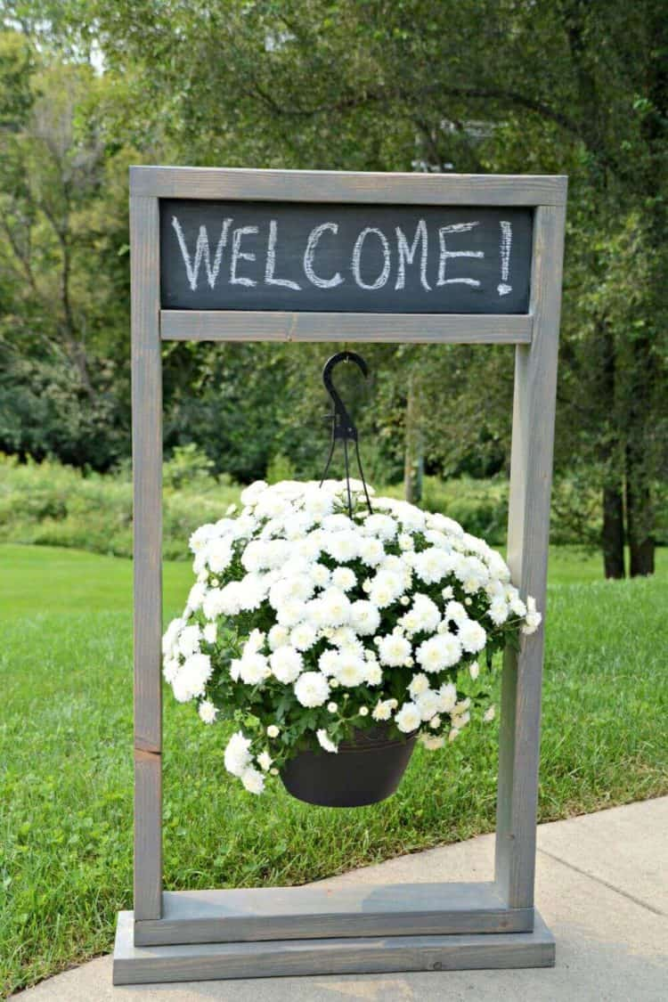 Entryway Chalkboard Sign Hanging Planter ideas