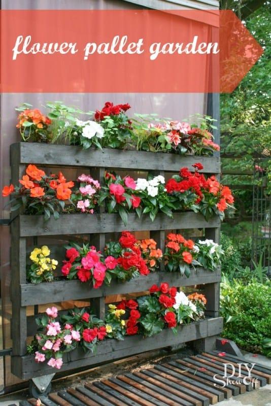 Flower Pallet Planter Garden