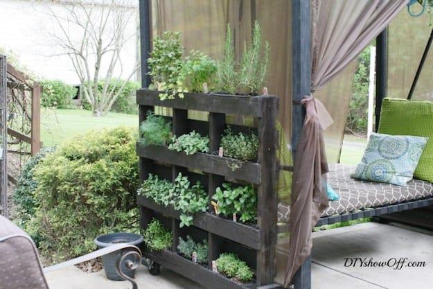 Free-Standing Herb Garden Pallet Planter