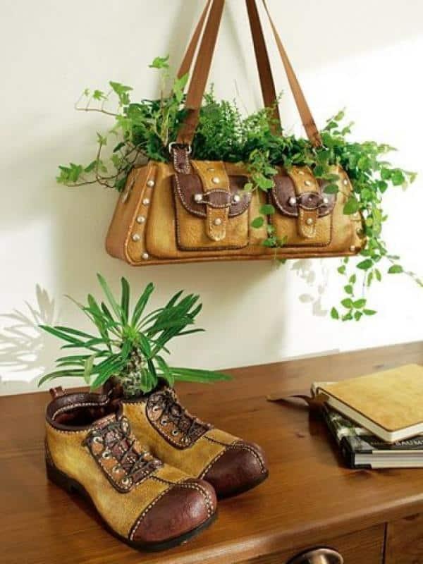 HandBag Hanging Planter ideas