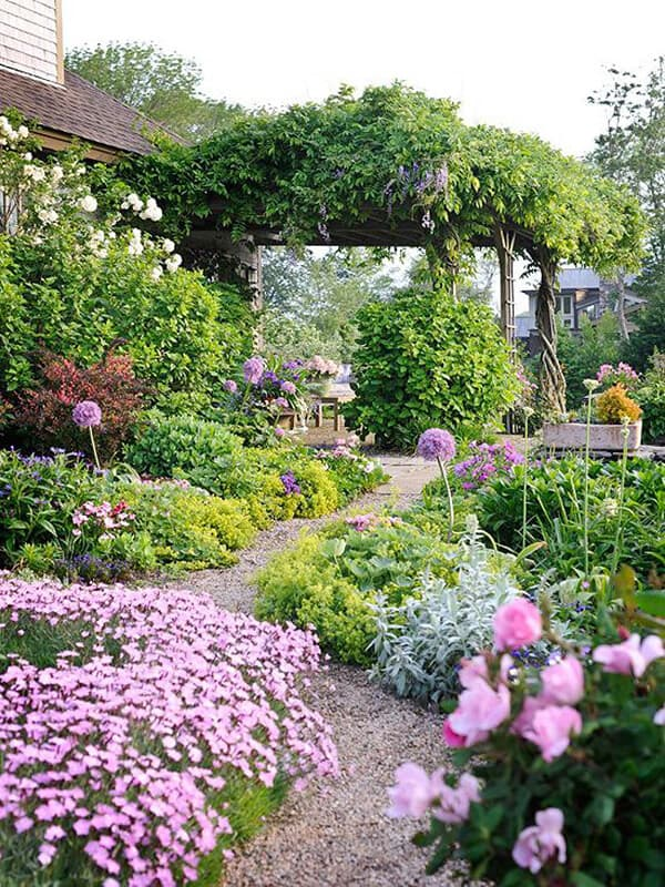 Magical Flower Garden with Pathway