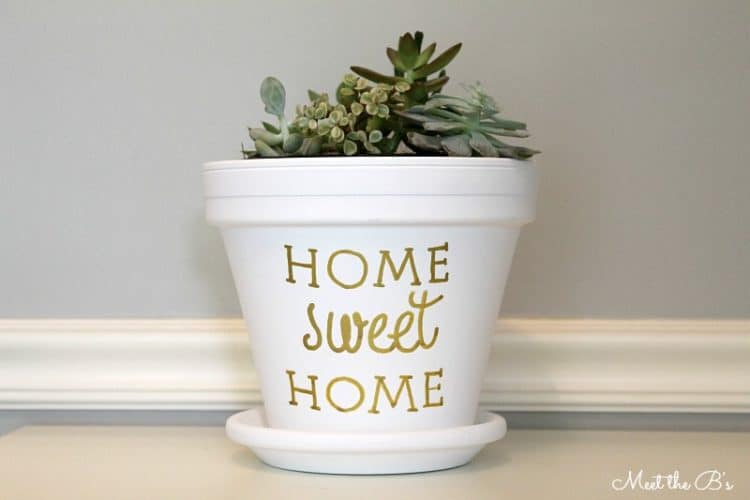 Painted Planter Housewarming Gift diy succulent planter