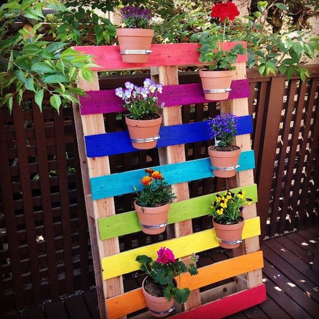 Rainbow Pallet Planter