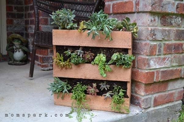The Cedar Pallet Planter
