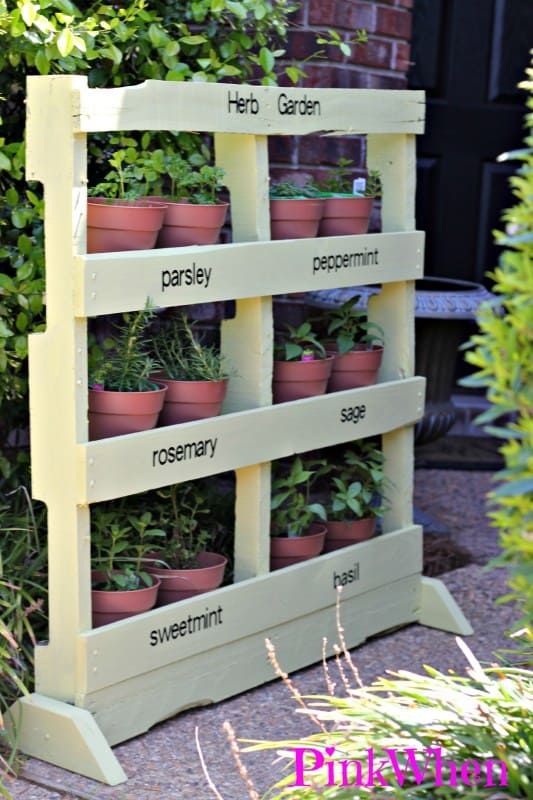 The Self-Supported Pallet Planter Herb Garden PGI23