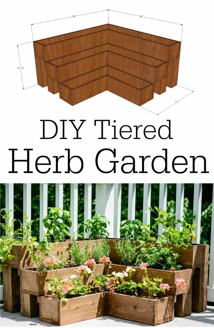 Tiered Herb Garden Pallet Planter
