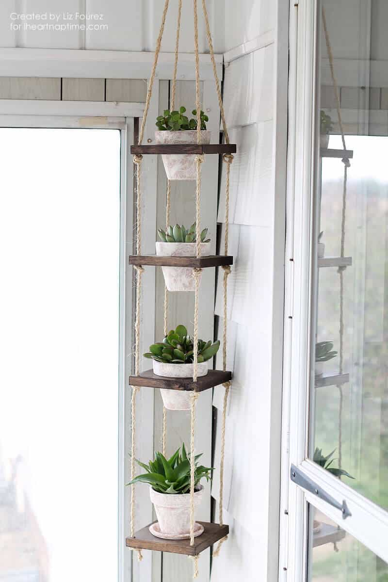 Twine Hanging Succulent Tower ideas