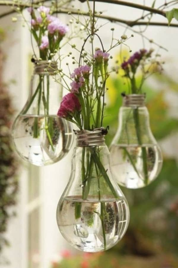 Upcycled Light Bulbs Hanging Planter ideas