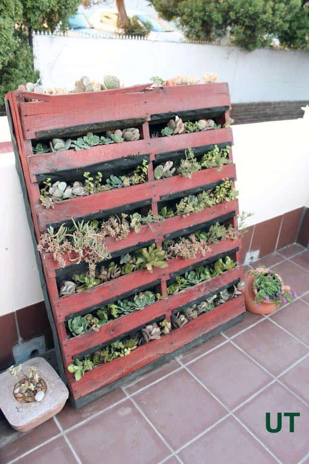 Upcycled Succulent Pallet Planter