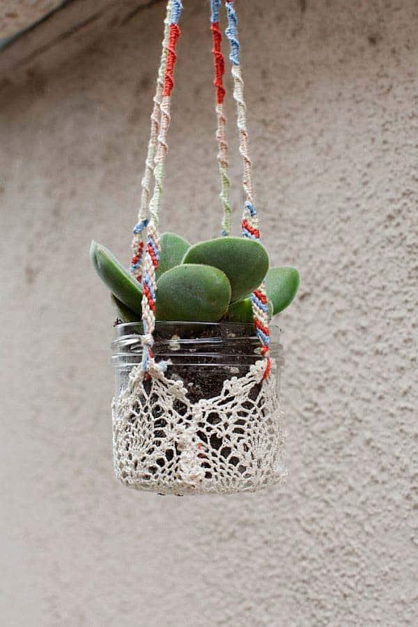 diy hanging planter ideas 10
